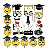 Abaodam 25 piezas de accesorios para fotos de graduación con sonrisa divertida para despedidas de soltero (foto 1)