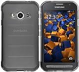 mumbi Hülle kompatibel mit Samsung Galaxy Xcover 3 Handy Case Handyhülle, transparent schwarz