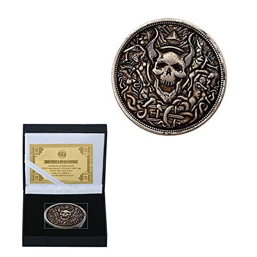 Ziegenhackel. Antiquität Gedenkmünze Sammlungen Pirat Münze Linderung Medaillen Raffinesse/Silber/Runden