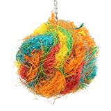 Bonka Bird Toys 2184 Rainbow Coco Colorful Natural Coconut Fiber Parrot Parrotlet Cockatoo Budgie