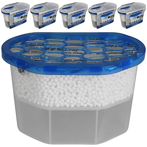 Innenraumentfeuchter 6 tlg. Luftentfeuchter für Auto Keller Schränke Granulat Entfeuchter Set Entfeuchtungsgranulat