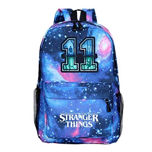 DarkT S-Stranger Thing-s Backpack Starry Sky Grey School Backpack Travel Backpack for Boys and Girls