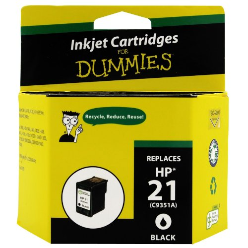 Green Project Compatible Ink Cartridge  Replacement for HP 21 (Black)