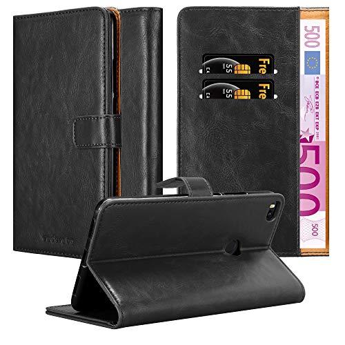 Cadorabo Funda Libro para Xiaomi Mi MAX 2 en Negro Grafito - Cubierta Proteccíon con Cierre Magnético, Tarjetero y Función de Suporte - Etui Case Cover Carcasa