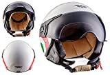 "Moto Helmets® H44 ""Italy"" · Jet-Helm · Motorrad-Helm Roller-Helm Scooter-Helm Bobber..."