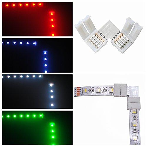 10 x Conector de 5050 LED tira RGBW 12mm 5-Pin