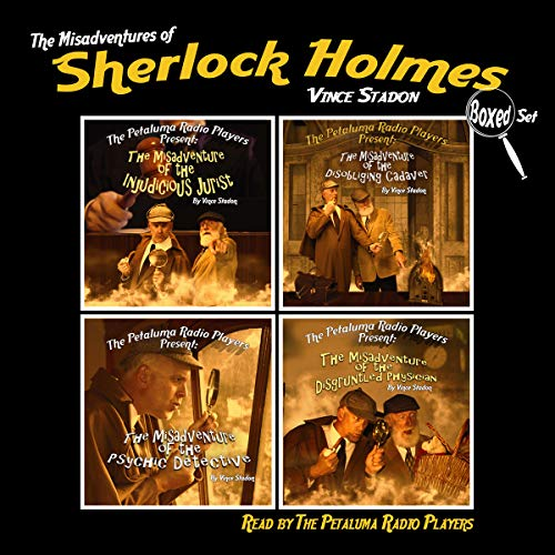 The Misadventures of Sherlock Holmes, Boxed Set audiobook cover art