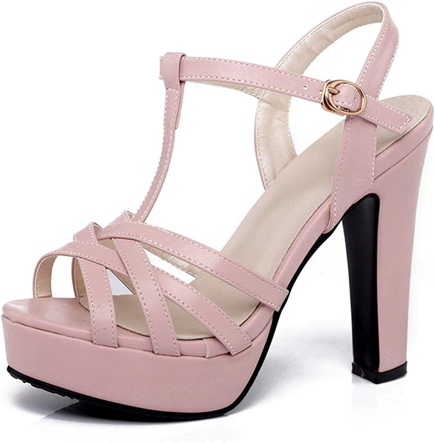GAO-GEN1 31-43 Black White Pink Sandals Women shoes Summer High Heels Party Wedding Bride shoes Woman