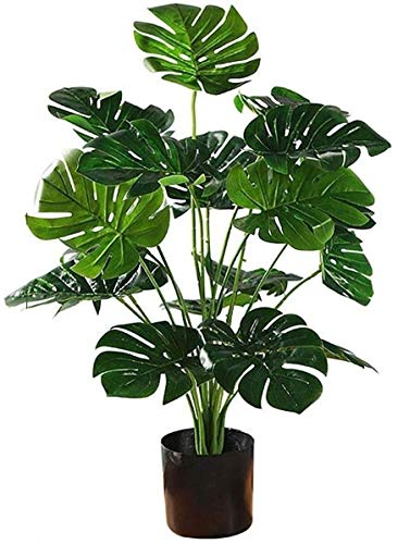 JIAJBG Artificial Plant and Tree, Closer to Nature Artificial Monstera Deliciosa, Multibranch Tropical Potted, 70Cm 18 Leaves Festival Holiday Home Décor