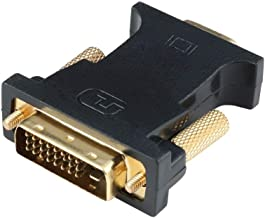 Angusplay Adaptador DVI a VGA, Dual Link DVI-D 24+1 a VGA(D-SUB 15pin) Monitor Conversor para PC tarjeta gráfica etc, Negro