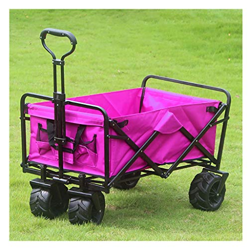 Z-SEAT Sports Transport Cart Heavy Duty Collapsible Folding All Terrain Utility Wagon Beach Cart,for Luggage, Personal, Travel, Moving and Office Use