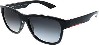 Prada - Sport SPS03Q, Gafas de Sol, Rectangulares, Polarizadas, Negro (Black), 56
