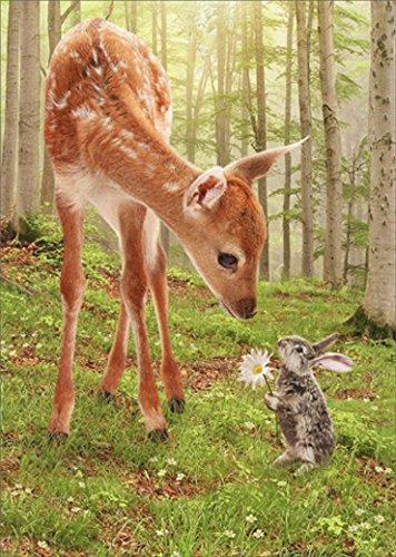 Fawn and Bunny Friends Avanti Thank You Card