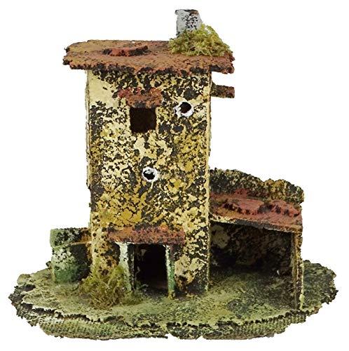 Originale casa con gallinero cm. 18 x cm. 12 x cm. 13 Horas.