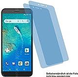 4ProTec I 2X Crystal Clear klar Schutzfolie für General Mobile GM 8 Go Bildschirmschutzfolie Displayschutzfolie Schutzhülle Bildschirmschutz Bildschirmfolie Folie