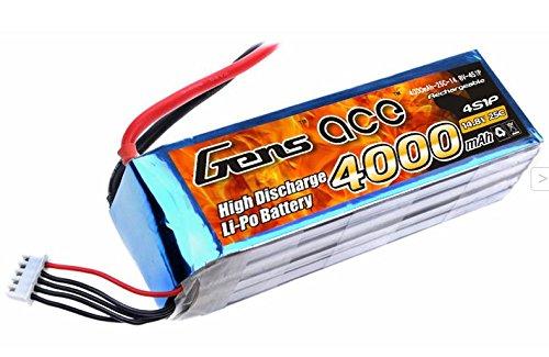 Gène Ace 4000 mAh 14,8 V 25 C 4s1p Lipo Pack Batterie pour modélisme RC Car Heli Bâche Boat Truck FPV Voiture hélicoptère Avion Toys