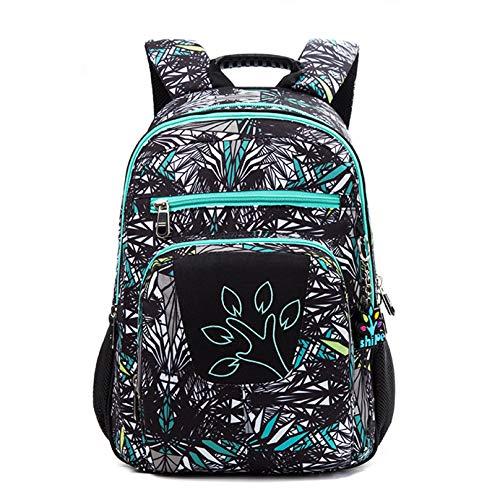 MODRYER Bolso de Escuela Impreso para Niños Kindergarten Student Daypack Impermeable Mochila Mochila Ligera para el Almuerzo de Viaje Camping de la Escuela,Green-Small(34 * 26 * 13cm)