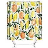 LLLTONG Duschvorhang wasserdicht Polyester Mehltau Stoff Duschvorhang Mehltau Duschvorhang Zitrone Apfel