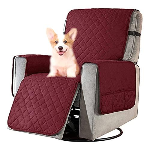 Funda de sofá personal con bolsillos, funda para sillón relax para mascotas, funda para sillón infantil, funda antideslizante para sillón relax