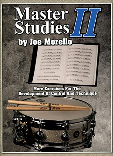 Master Studies II Drums (Book): Noten für Schlagzeug: More Exercises for the Development of Control and Technique