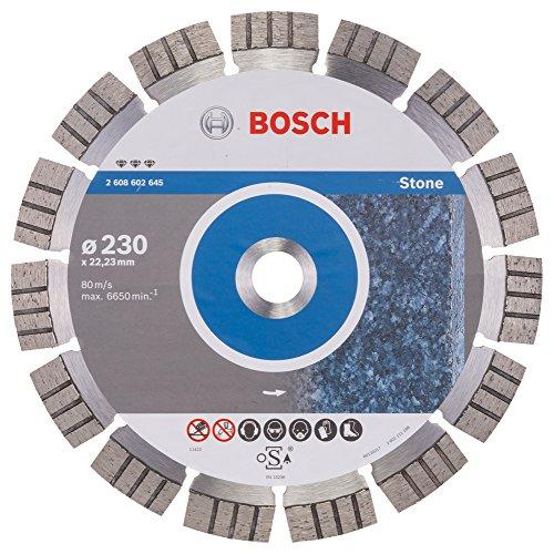 Bosch Professional Diamanttrennscheibe Best for Stone (für Stein, 230 x 22,23 x 2,4 x 15 mm, Zubehör Winkelschleifer)