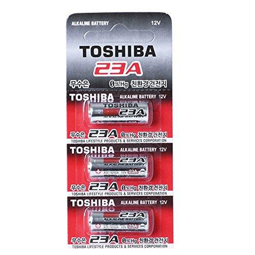 Toshiba Lot de 3 piles alcalines A23 12 V