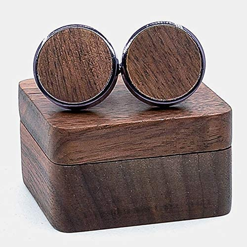 Urns Ashes Funeral New Wooden Cufflinks Wedding Groom Cufflinks Shirt Cufflinks Men's Casual Fashion Wooden Gift Box Black Walnut,Colour Name:Brown Pet Memorial Dog cat Urn (Color : Wood Color)