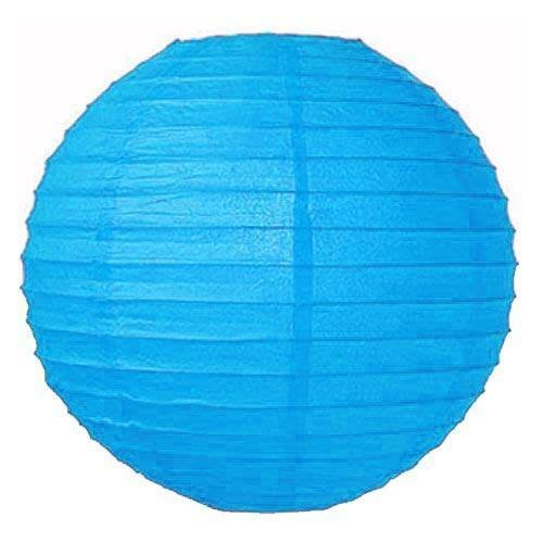 """Perfectmaze 12 Piece Round Chinese Paper Lantern for Wedding Party Engagement Decoration 10 Sizes / Colors+ (8"""" (Inch), Turquoise)"""