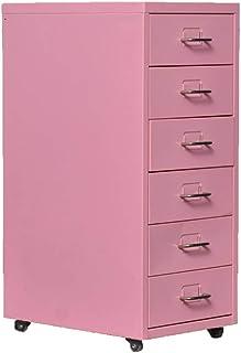 Classeur Vertical 6 tiroirs Bureau Accueil Armoires Mobiles Classeur VERTICAUX fichier Acier Multifonctions A4 Stockage fo...