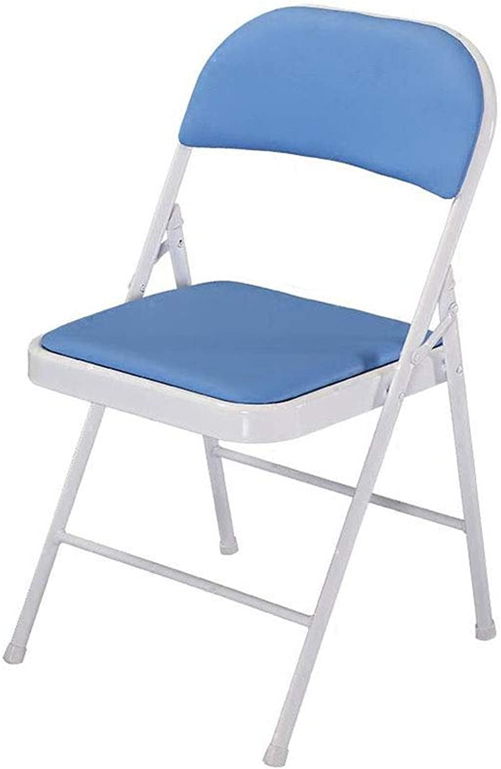 Folding Chair Portable Desk Chair Student Training Backrest Chair Steel Metal & Faux Leather