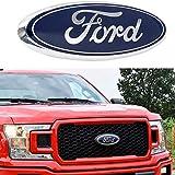 2004-2014 F150 Front Grille Tailgate Emblem, Oval 9'X3.5', Dark Blue Decal Badge Nameplate Fits for Ford 04-14 F250 F350, 11-14 Edge, 11-16 Explorer, 06-11 Ranger