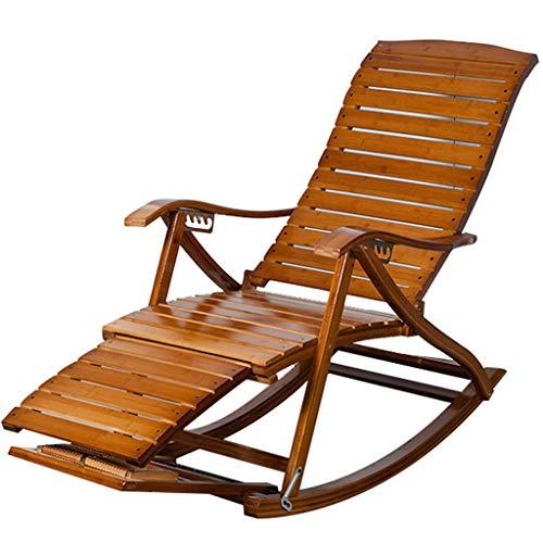 SjYsXm-Chaise longue Fauteuil à Bascule Pliable Fauteuil Relax Fauteuil Fauteuil réglable Fauteuil Rocker pour Personnes âgées avec Ballon massable (Couleur : B)
