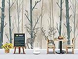 Papel pintado de pájaro volador de árbol abstracto de círculo de alce para decoración de pared de sala de estar de dormito Pared Pintado Papel tapiz 3D dormitorio de estar sala sofá mural-430cm×300cm