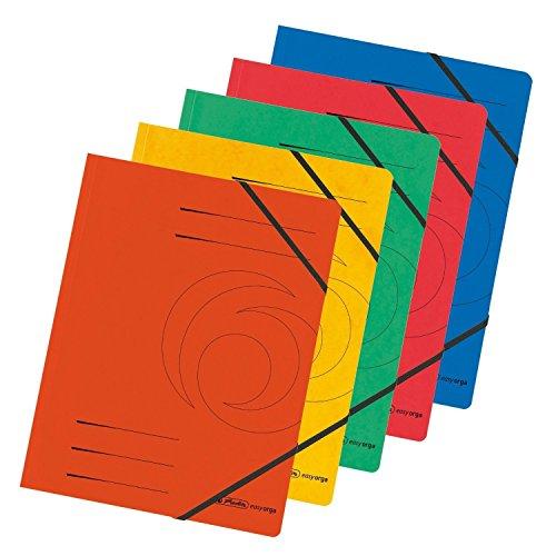 Herlitz 10902872 Eckspanner A4 Colorspan, farbig sortiert, 10er Packung (10)