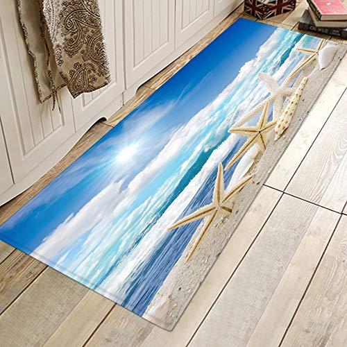 HLXX Alfombrillas de baño Alfombra de Cocina Alfombra Antideslizante para el Piso del Dormitorio Pasillo Alfombra del área del Porche Alfombra de Entrada Alfombras Estampadas en la Playa A25 40x120cm