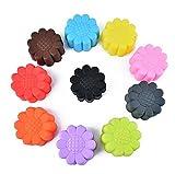 Lumanuby 10x Sonnenblume Cupcake Formen Wiederverwendbare Silikon Muffinform für Muffins Brownies...