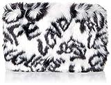 UGG Small Zip Pouch Faux Fur, Graffiti B/W