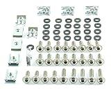 Tech-Parts-Koeln Motorrad Verkleidungsschrauben + Klemmen/Clips M6 Schrauben 6mm Set - 60 Teile