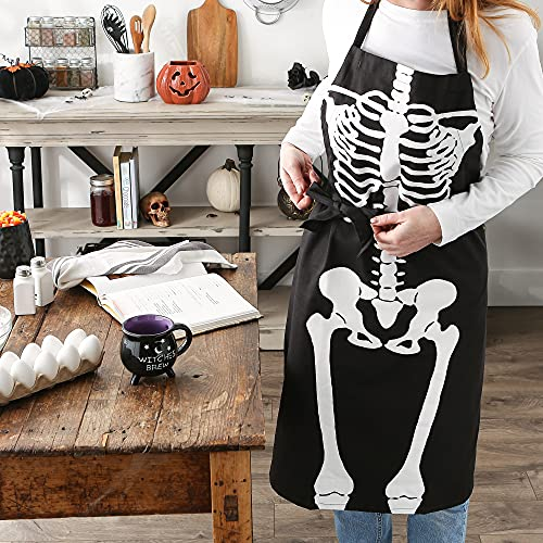 DII Happy Collection Halloween Apron, One Size, Skeleton