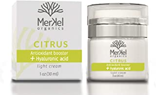 Merkel Organics Face Moisturizer For Dry Skin and Moisturizer For Oily Skin - Anti Aging Face Cream With Hyaluronic Acid | Facial Moisturizer For Day and Night Cream | Skin Care For Women and Men.