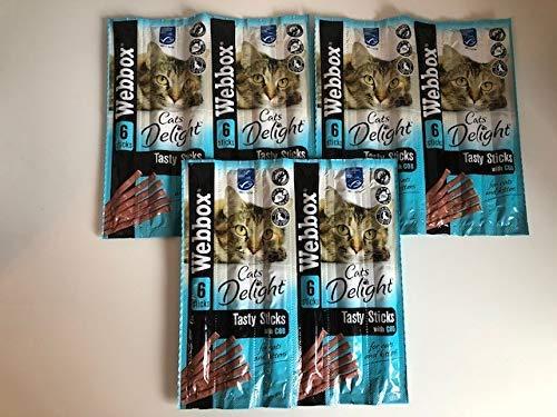 Surrey Feed Webbox Tasty Sticks Cat treats - Cod (Pack of 3)