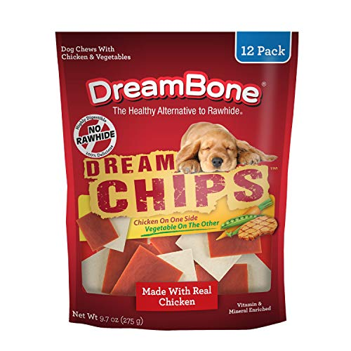 DreamBone DreamChips With Real Chicken 12 Count, Rawhide-Free Chews For Dogs