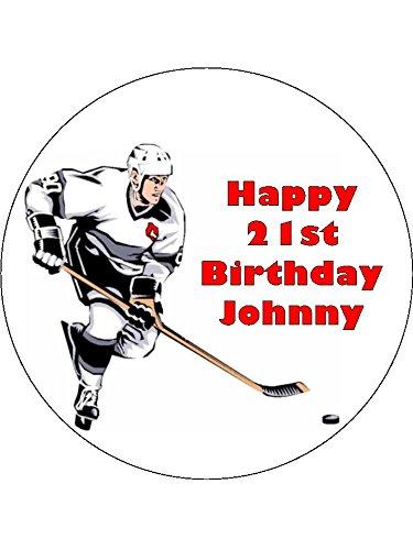 7,5Eishockey Essbarer Zuckerguss Birthday Kuchen Topper