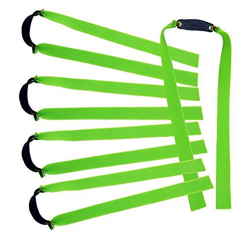 Mangobuy Ersatzband für Holzschleuder / Katapult / Jagdbänder, flach, elastisch, 10 Stück, grün