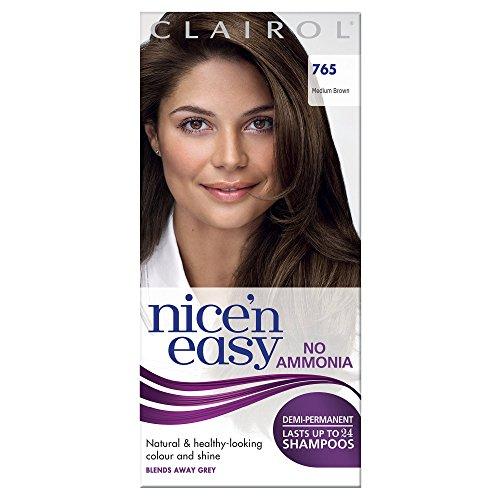 Clairol Nice'n Easy Semi-Permanent Hair Dye No Ammonia 765 Medium Brown