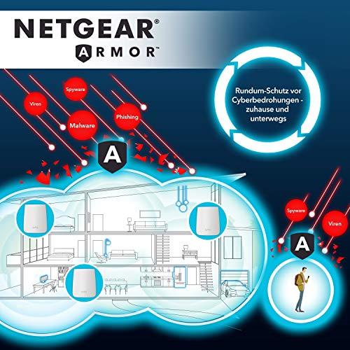 Netgear Nighthawk R7000 WLAN Router AC1900 (Dual-Band, bis zu 1900 MBit/s, Abdeckung bis 150m² & 30 Geräte, 4x 1G Ethernet- & 2x USB-Ports, inkl. 30 Tage Circle Kinderschutz & Armor Cyber-Security)