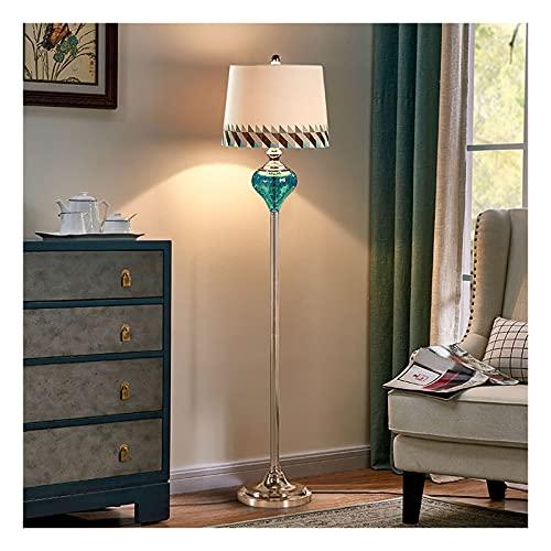 Indoor Vloerlamp voor woonkamer, staande leeslampje met stof lampenkap, moderne design hoge poollamp voor kantoor…