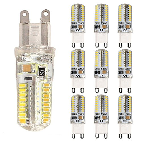 Allright 10 Stk G9 LED Lampe 5W Birnen Energiesparlampen 360° Abstrahlwinkel Nicht Dimmbar 64SMD (Kaltweiß)