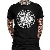 YANGFJcor Viking Odin Rune vegvisir Árbol vida Celtic knot totem O-Neck Camiseta para hombre, Unisex Tattoo 3D Printed Harajuku Fashion Camisa de manga corta summer tops,Vegvisir,5XL