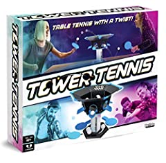 """2 players Over 13"""" high and 16"""" wide Game includes 1 tower, 3 balls, 2 paddles, and game rules"""